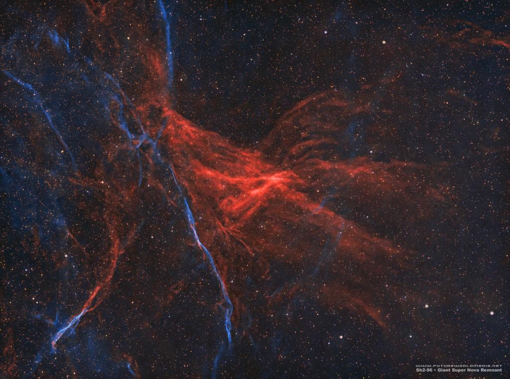 2020 12-15 - Sh2-96 Super Nova Remnant in HOO (Mono-SV70T)
