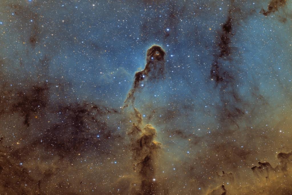 Elephant trunk nebula SHO 200-800 Stutzheim, France