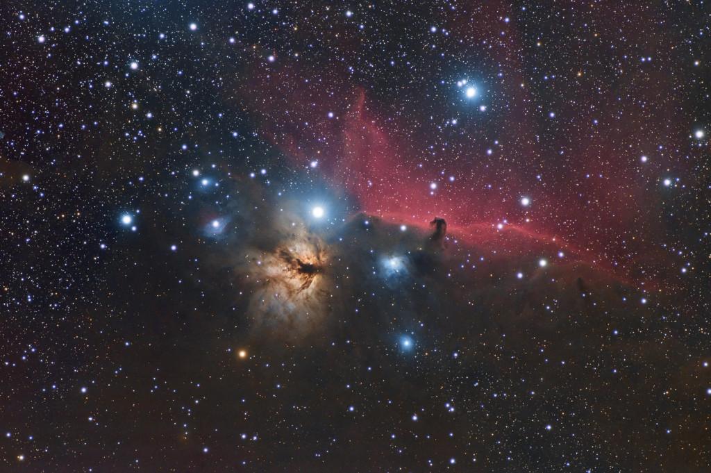 Headhorse and flamme nebula 72ED ZWO 071 Chaudon-Norante, France