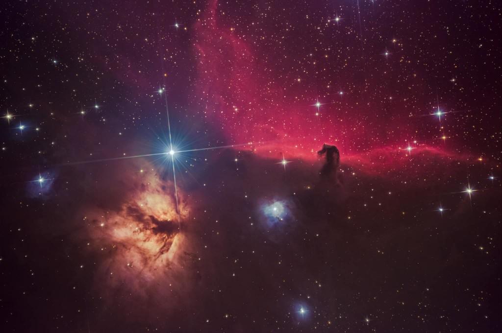Horsehead-flame-nebula-ZWO-ASI071MC Pro