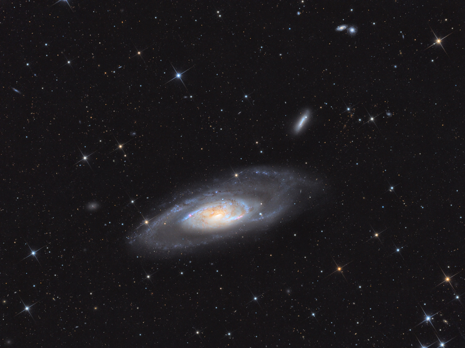 Final LRGB image Messier 106 in the constellation Canes Venatici made with ASI1600.