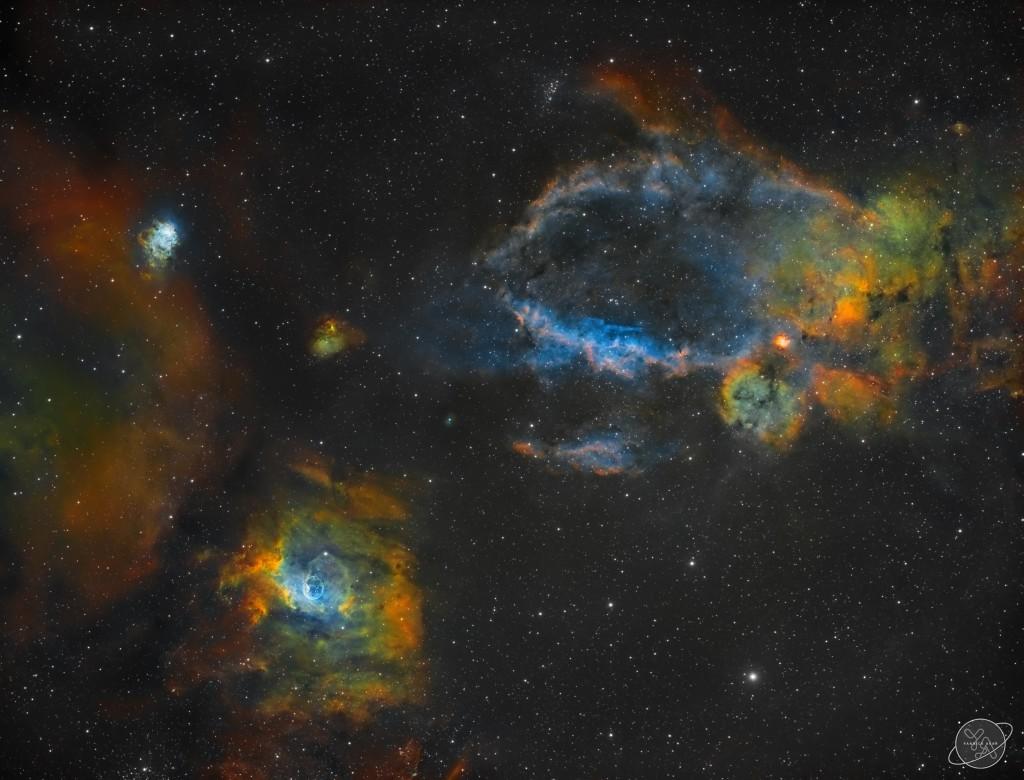 NGC7635, NGC 7538 & Sh2-157