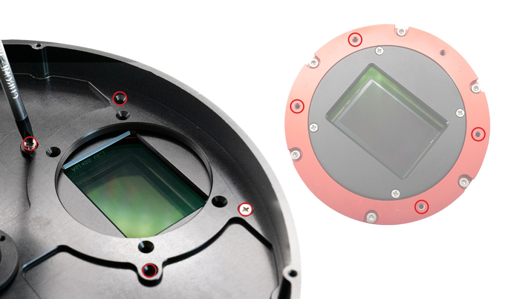 NO.5 对准EFW与主相机接口位置