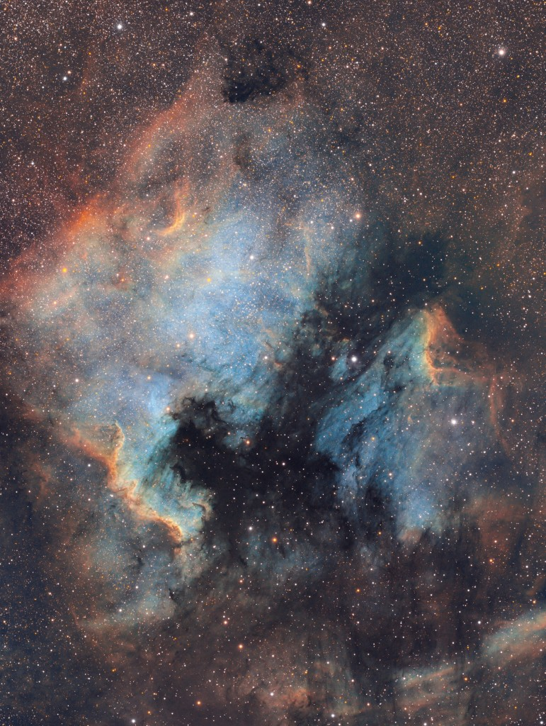 North America and the Pelican Nebula