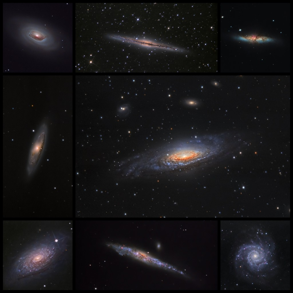 Q6a - composition of galaxies from 2018 (all made using SW Newtonian 250_1200 on EQ6 and ASI178 MM-C)
