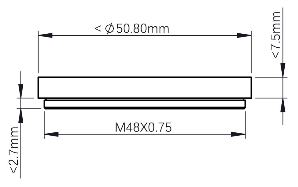 Requirements for 2inch filter from third party