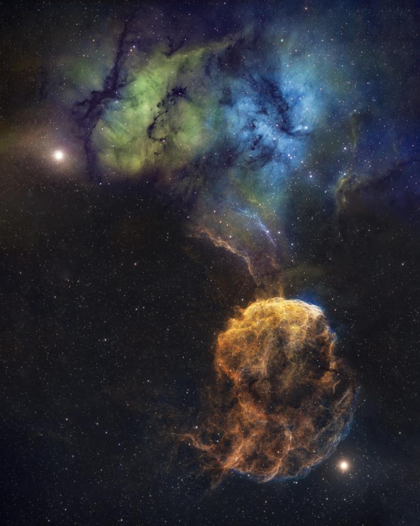 SH2-248 (Jellyfish Nebula) and SH2-249-1