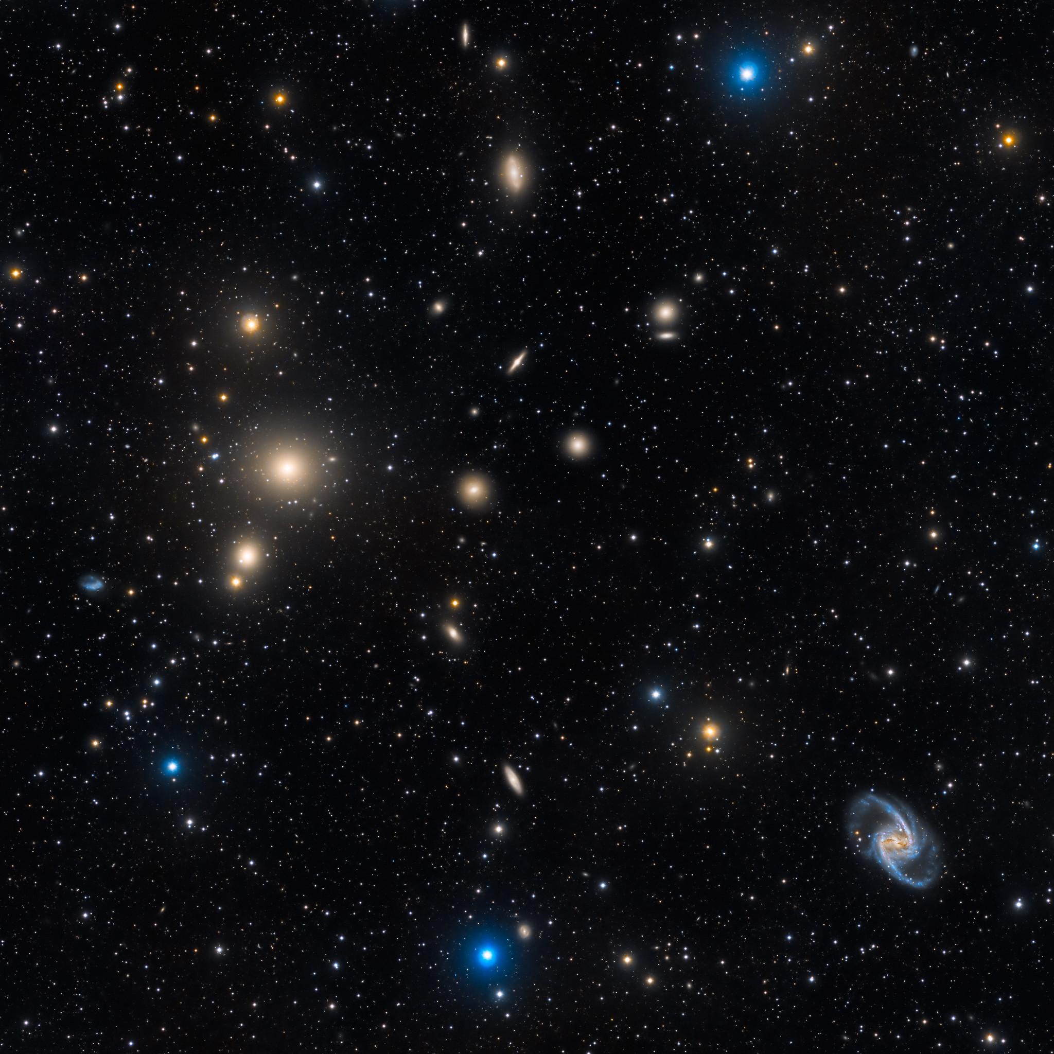 The rich galaxy cluster in Fornax, TEC140 - FLI Proline 16803