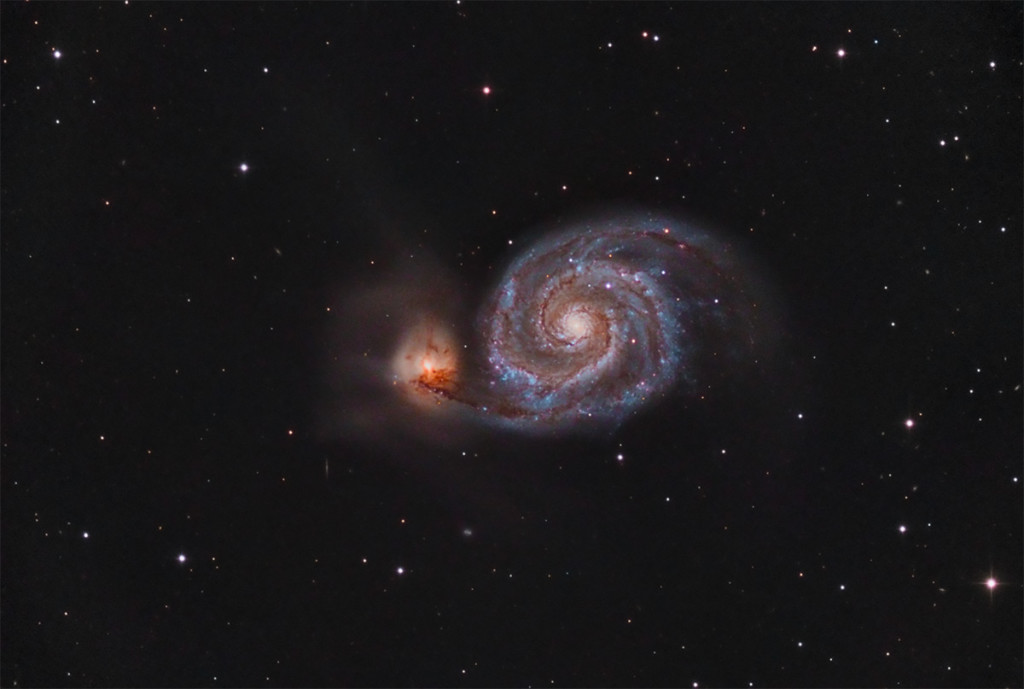 Whirlpool Galaxy and a close friend