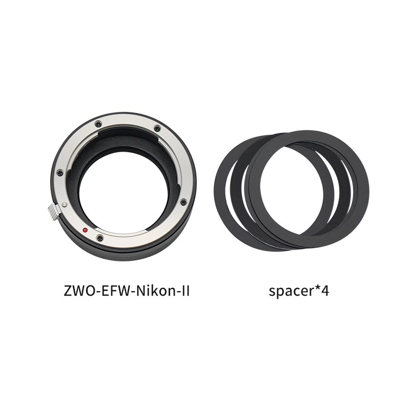 ZWO New EFW-Nikon-Ⅱ Adapter-Package List
